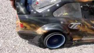 Huge RC Car Burnout