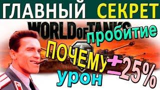 Главный секрет World of Tanks. Почему в игре пробитие и урон +-25%. Мнение эксперта