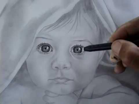 Tutorial desenho crianças a lápis grafite