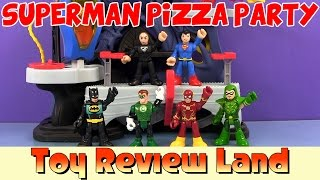 getlinkyoutube.com-Imaginext Superman Adventure: Pizza Party with Batman, Green Arrow, Flash & Green Lantern!