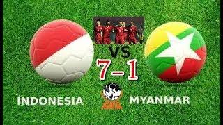 Cuplikan gol indonesia u18 (7) vs myanmar (1) || AFF U 18 2017