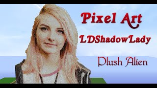 getlinkyoutube.com-Minecraft Pixel Art SpeedBuild | LDShadowLady