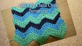 crochet ripple, wavy stitch
