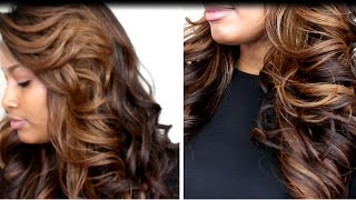 getlinkyoutube.com-Looks like a Weave!  Freetress Equal Lace Front Deep Invisible L Part Wig!