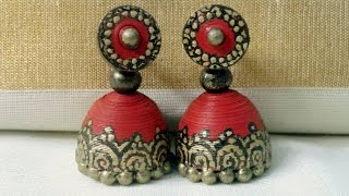 "getlinkyoutube.com-How to make paper Jhumkas Part-1 (Part -2 visit channel ""ecovideos""or click the link below)"