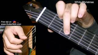 WHITE CHRISTMAS: Fingerstyle Guitar Lesson + TAB by GuitarNick