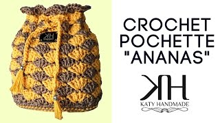 "getlinkyoutube.com-Tutorial pochette ""Ananas"" uncinetto 