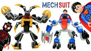 getlinkyoutube.com-Superman Anti-Kryptonite & Spider-Man Anti-Venom Mech Suits LEGO KnockOff Building Sets