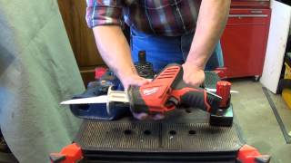 getlinkyoutube.com-Milwaukee Tool M12 Hackzall 2420-1 review and comparison to Ryobi 18v saw