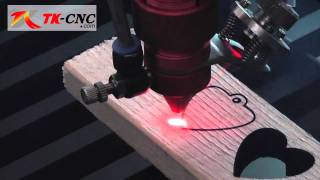 getlinkyoutube.com-100w laser cut 17mm soft wood, China cnc laser machine, laser cutter