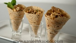 Paneer Stuffed Papad Rolls ..