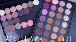 48 MORPHE SINGLE EYESHADOWS HAUL & SWATCH VIDEO | MINDY MARIE