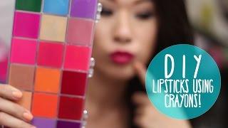 getlinkyoutube.com-DIY Lipsticks using CRAYONS! Organized in a Palette | Wearable Colors