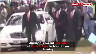 Kenyans stunned after 'prophet' Owuor is accorded presidential treatment