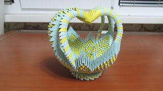 getlinkyoutube.com-3D Origami Large Basket Tutorial