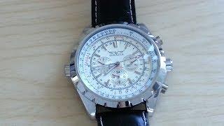 getlinkyoutube.com-Jaragar Aviator Automatic Watch - Review