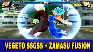getlinkyoutube.com-Vegetto SSGSS and Merged Zamasu Fusion | Vegemasu | DBZ Tenkaichi 3 (MOD)