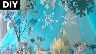 getlinkyoutube.com-Festa frozen , DIY: decoração com flocos de neve