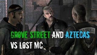 "getlinkyoutube.com-GTA 5 - ""Grove Street And Aztecas Vs The Lost MC!"" (Los Santos Battles)"