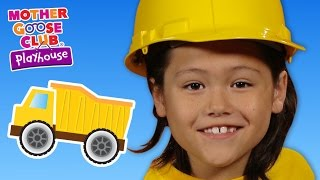 getlinkyoutube.com-Building With Toys   Construction Trucks   Mother Goose Club Playhouse Kids Video