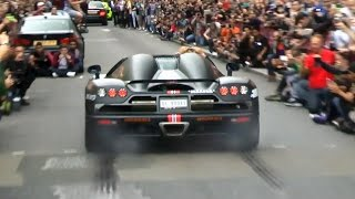 getlinkyoutube.com-Rare Koenigsegg CCXR - revs and burnout in London!