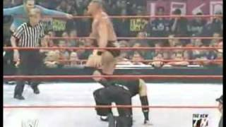 getlinkyoutube.com-Jeff Hardy and Matt hardy vs. Brock Lesnar with Paul Heyman (Crowd hates the Hardy's)