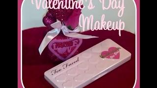 getlinkyoutube.com-Valentine's Day Pink Makeup using Too Faced Chocolate Bon Bons palette