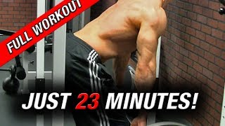 getlinkyoutube.com-Full Back Workout (In just 23 MINUTES!!)