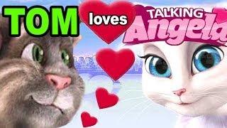 getlinkyoutube.com-TALKING ANGELA: Tom Cat is in LOVE