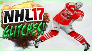 getlinkyoutube.com-NHL 17 Funny Glitches, Moments & Hits! (JUMPING OVER THE NET) #6