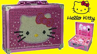 getlinkyoutube.com-Hello Kitty Special Edition Cosmetic Case Makeup Box for Kids Unboxing!!!