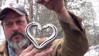 Blacksmithing   Forging A Kissing Horses Horseshoe Heart