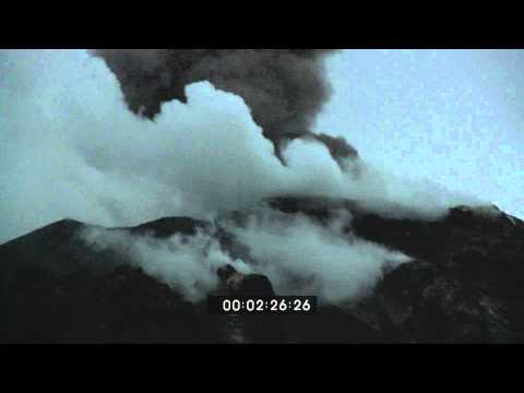 Stromboli Volcano Eruption, Italy March 2010 HD Stock Footage Screener 1920x1080 30p
