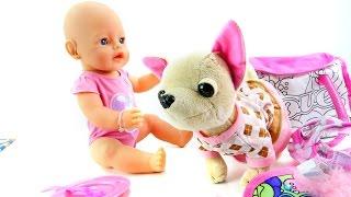 getlinkyoutube.com-Видео для девочек. Завтрак для куклы Эмили. Кормим малыша. Как мама 3