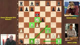 getlinkyoutube.com-Shirov wins with Fried Liver Attack in 2014 Chess Olympiad!