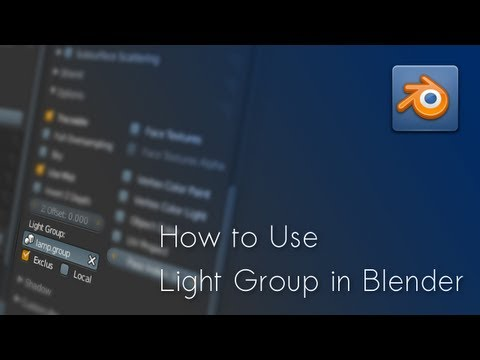 [Blender Tutorial] How to Use Light Group in Blender