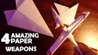 4 Amazing Weapons Made From Paper!
