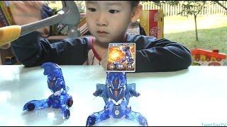 getlinkyoutube.com-에반블루 짝퉁 뿌셔버리기 분노의 망치질 !!Destroying Imitation Turning MeCard Transformer toy! Angry Hammer time!
