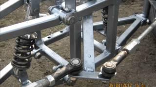 getlinkyoutube.com-Rower cztero kołowy z układem kierowniczym 2. z silnikiem