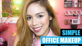 getlinkyoutube.com-SIMPLE OFFICE MAKEUP LOOK FEATURING MAYBELLINE - candyloveart