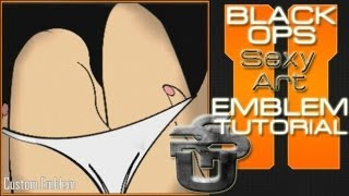 getlinkyoutube.com-Sexy Girl Art : Call of Duty Black Ops 2 Emblem Tutorial