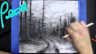 Dark Forest Charcoal Speed Drawing