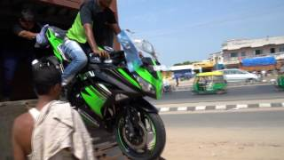 unboxing and first start up ninja 300