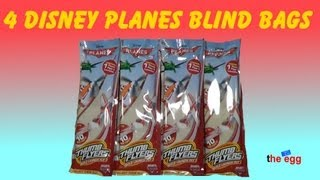 getlinkyoutube.com-4 Blind Bags Disney Planes Thumb Flyers opening unboxing toys build, launch and fly !