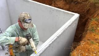 getlinkyoutube.com-Barnes Metal Buildings Storm Shelter Installation