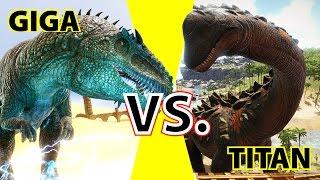 getlinkyoutube.com-Giganotosaurus vs. Titanosaur   KampfArena   Ark Survival Evolved:  Gamplay Deutsch   German
