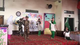 Teblo Hum tery sipahi hen performed by students of qauid e millat model high school