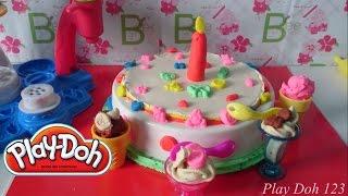 getlinkyoutube.com-Play Doh Cake and Ice Cream Shop - Play Doh Ice Cream Birthday Cake
