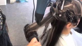 getlinkyoutube.com-Blow Drying long wavy hair
