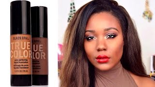 NEW Drugstore Oily Skin Foundation: Black Opal Foundation Review Demo